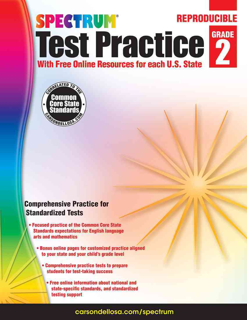 Test Practice, Grade 2 By Spectrum (COR)/ Carson-Dellosa Publishing Company, Inc. (COR)